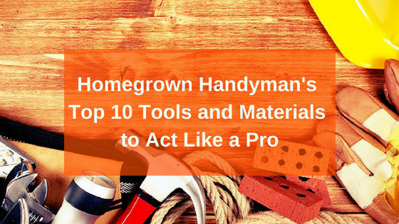handyman's tools and materials